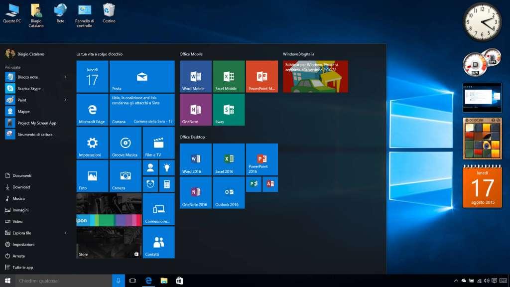 Come inserire i Gadget di Windows 7 su Windows 10