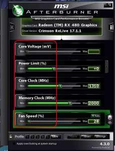 Configurare MSI Afterburner