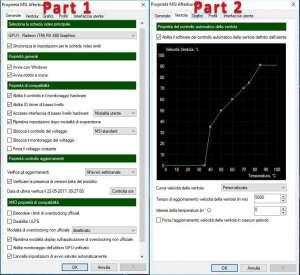 Configurare MSI Afterburner curva di temperatura