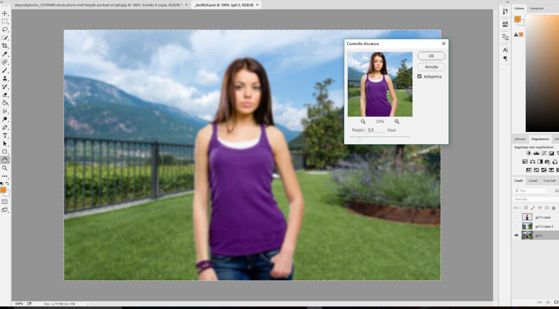Come sfocare uno sfondo in Photoshop / …