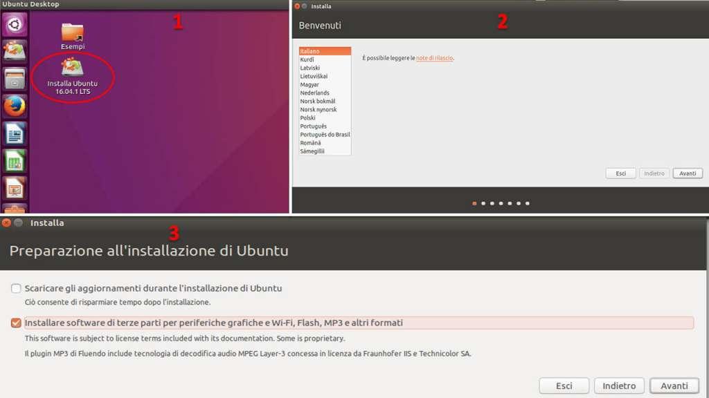 Installare UbuntuInizio operazioni