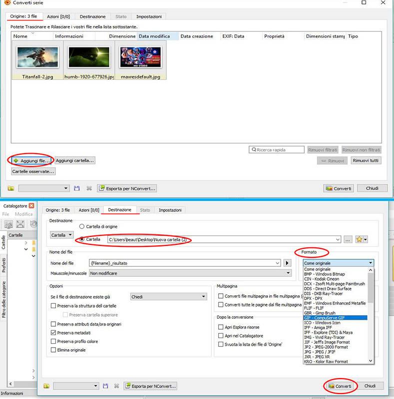 Come convertire immagini con XnView MP
