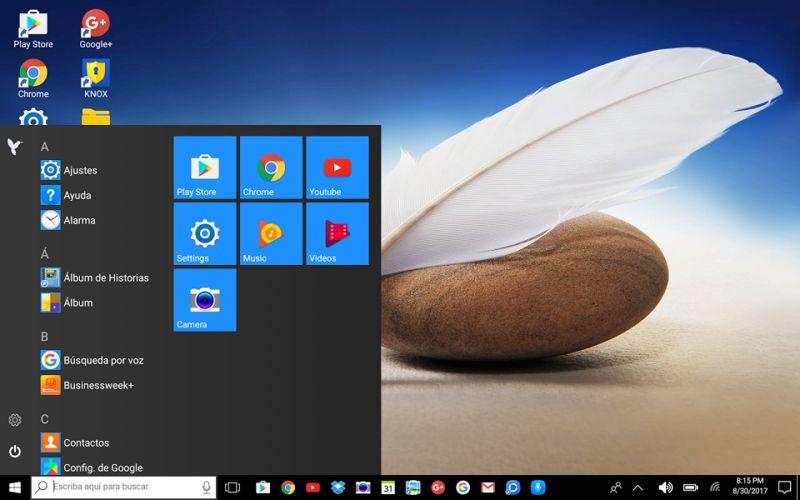 a232825d653e6 Da Android in Windows Phone con Desktop Launcher for Windows 10 Users