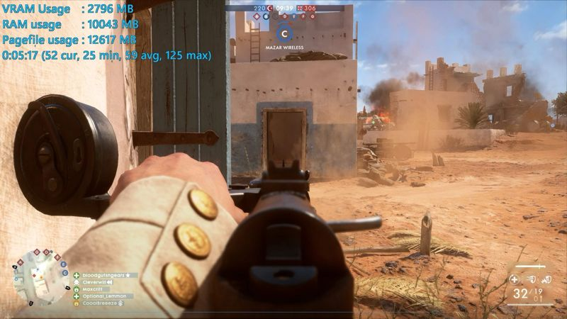 Benchmark Battlefield 1 BF1 1060-3G