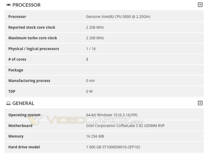 CPU Intel 8 Core caffè Lake S svelata scheda madre Z390