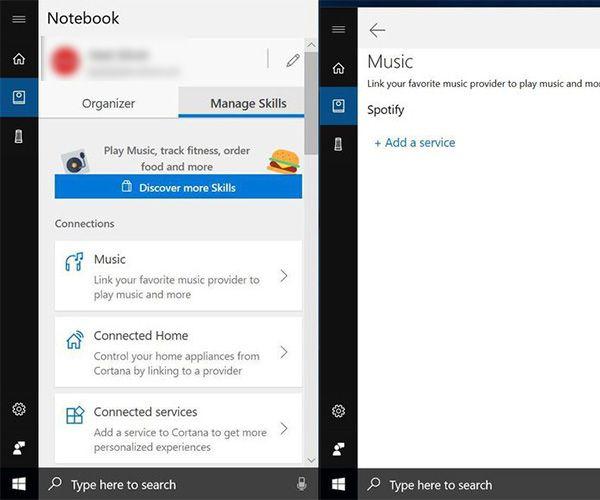 controllare Spotify con Cortana su Windows 10