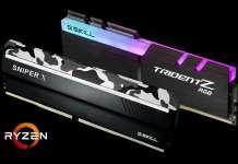 RAM CPU AMD Ryzen serie 2000 Gskill