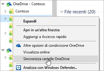 Forzare sincronizzazione OneDrive