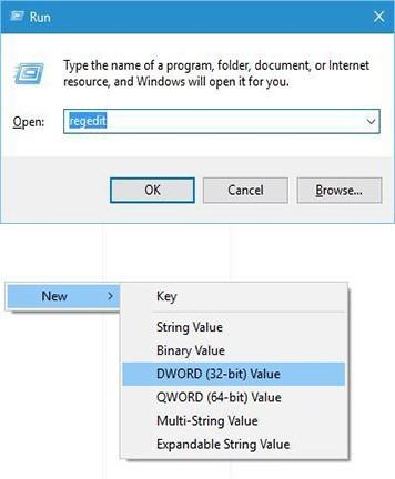 disattivare il touchpad Modificare il registro