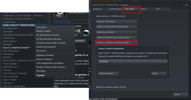 Come Trasferire giochi Steam su SSD