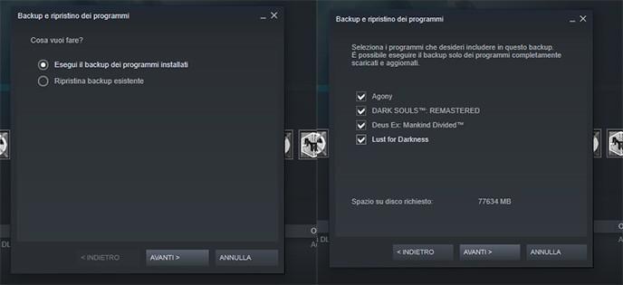 Come Trasferire giochi Steam