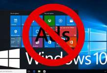 Disabilitare banner pubblicitari su Windows 10
