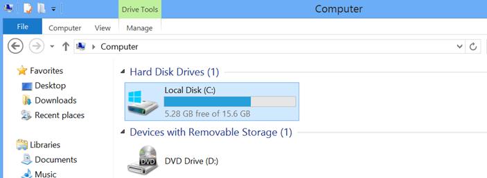 aggiornare Windows 10 su dispositivi con spazio insufficiente