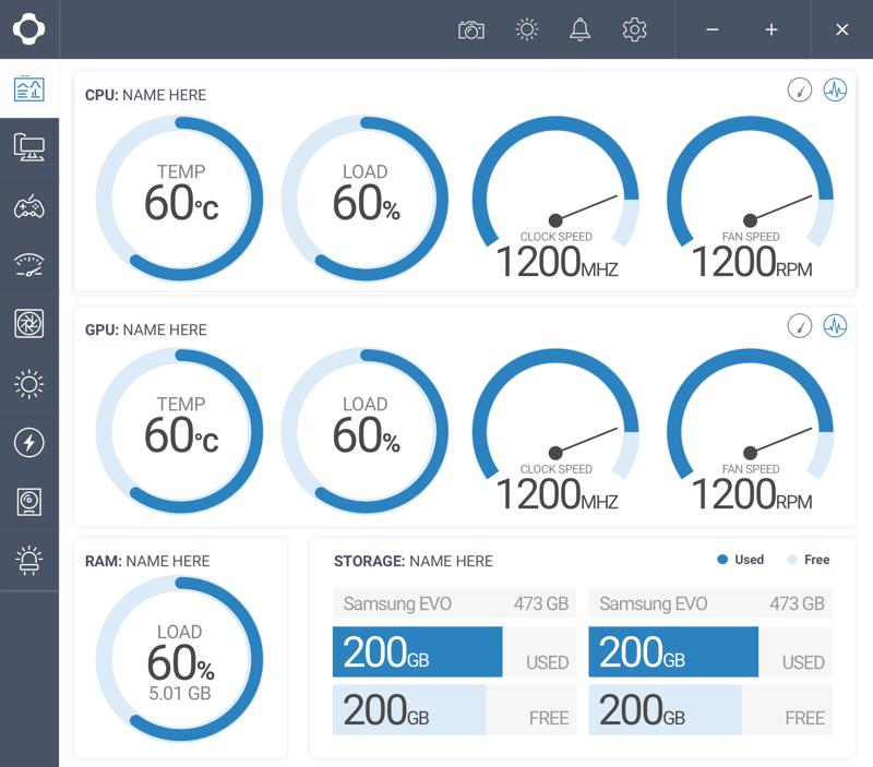 controllare la temperatura della CPU NZXT Cam