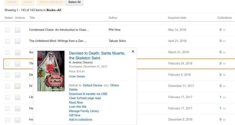 prestare ebook Kindle