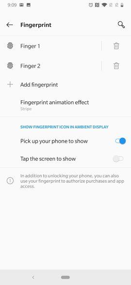 OnePlus 6T sensore impronte digitali personalizzare