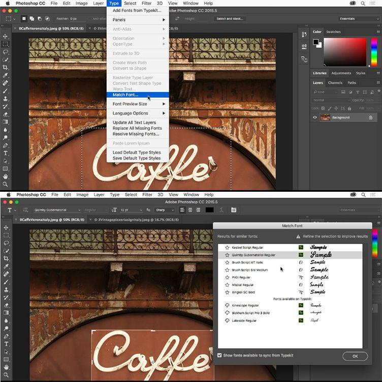 Riconoscere font da immagine tramite Photoshop