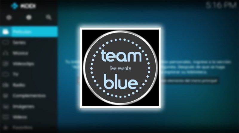 TeamBlue Live Events su Kodi add on