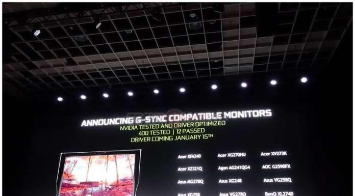 Nvidia supporta Adaptive-Sync FreeSync VESA
