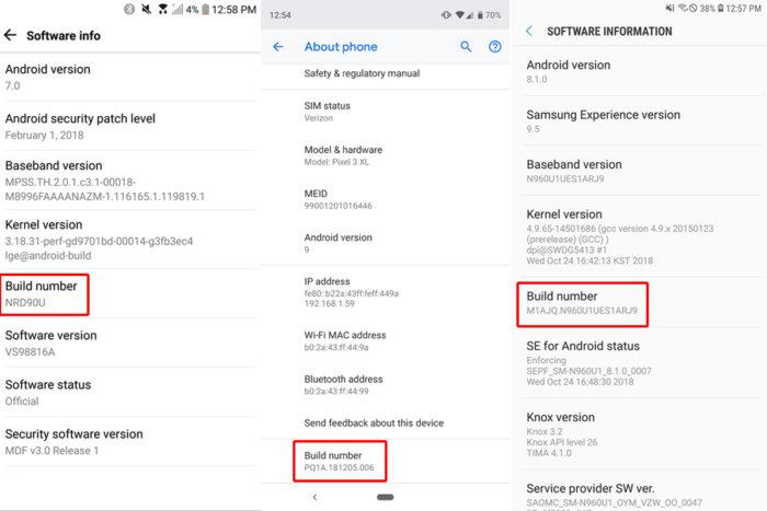attivare opzioni sviluppatore numero build Android