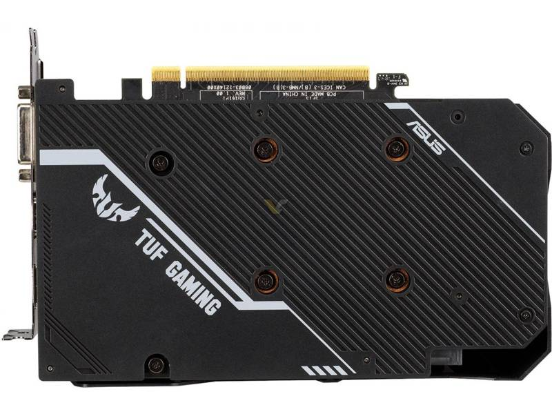 ASUS RTX 2060 serie TUF backplate