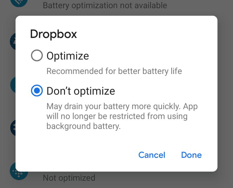 Android Personalizzare le app ottimizzate 2