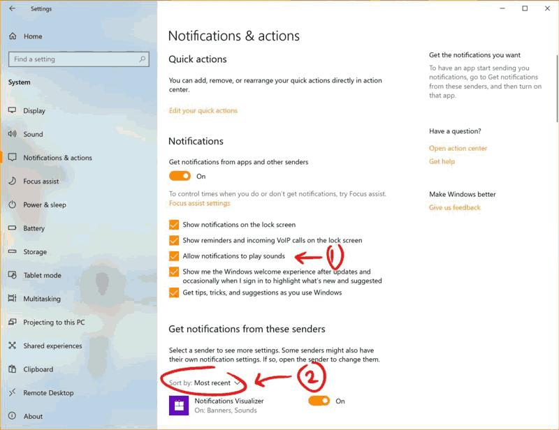 Nuove Caratteristiche Windows 10 notifiche