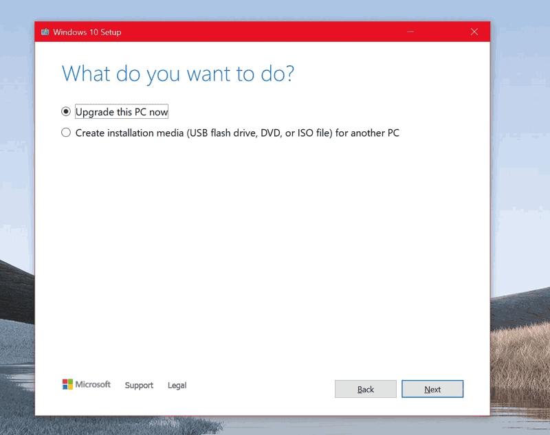 strumento di aggiornamento windows