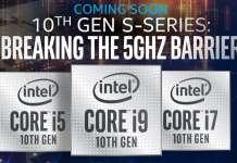 Intel 10 generazione cpu