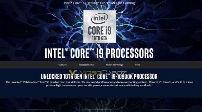 Intel Comet Lake Core i9-10900K