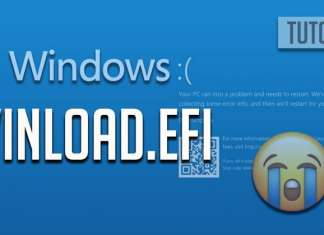 correggere errore Winload.efi su Windows 10