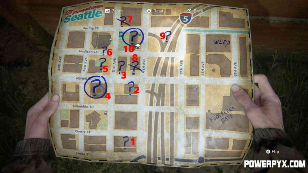 Guida The Last of Us 2 mappa downtown seattle