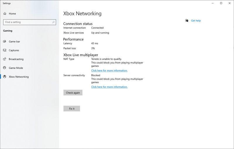 stato di connettività Xbox Live