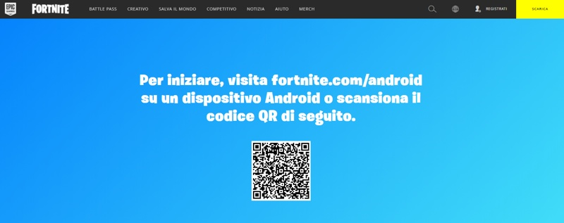 installare Fortnite Stagione 4 su smartphone Android