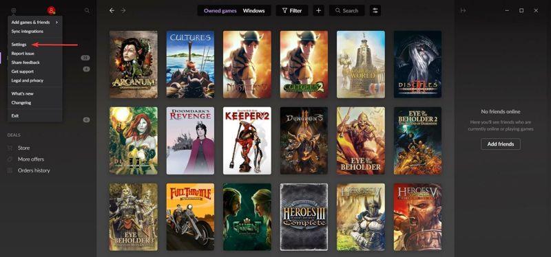 Come aggiungere Steam Xbox Epic su GOG