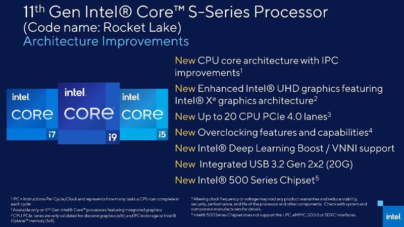11 generazione CPU Intel Rocket Lake