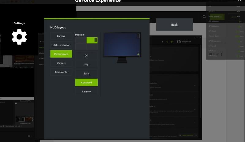 controllare temperatura scheda grafica GeForce Experience