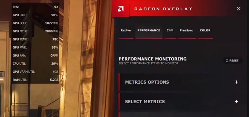 controllare temperatura scheda grafica Radeon Overlay