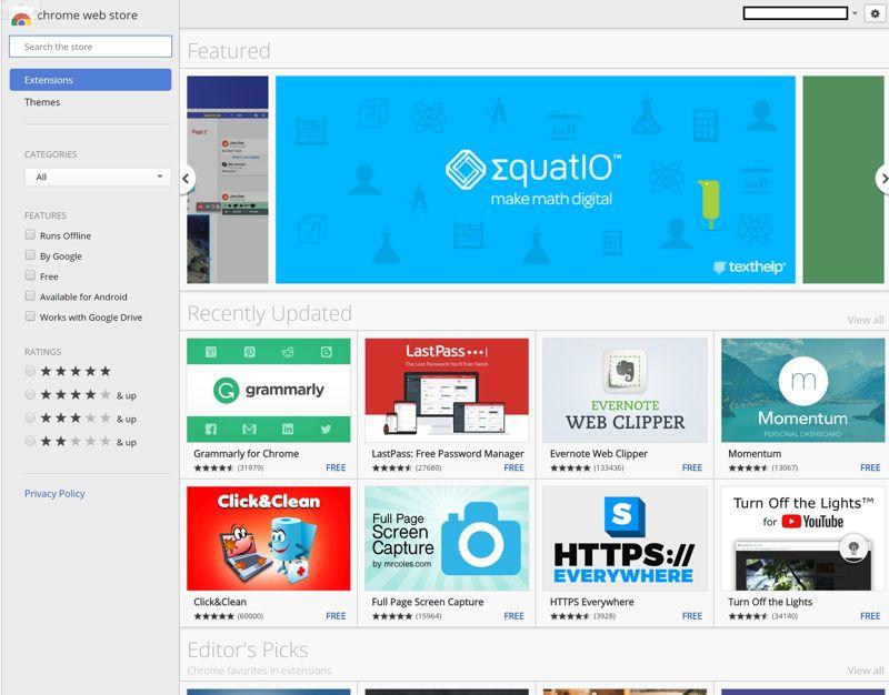 app di Chrome possono essere trovate nel Chrome Web Store