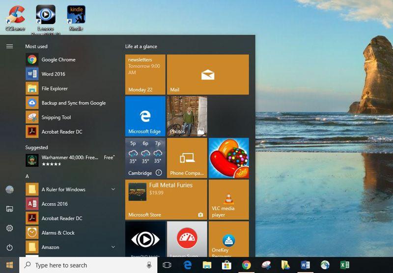 differenza Chromebook PC Windows menu start