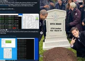 NVIDIA rimuove il limitatore ETH su RTX 3060