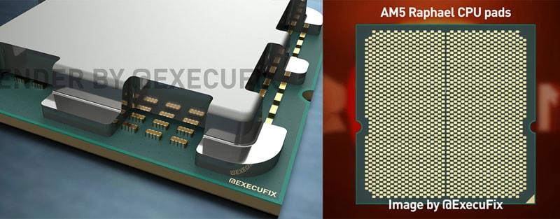 AMD Raphael condensatori non coperti dal dissipatore
