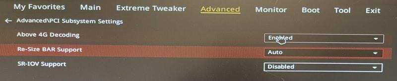 attivare AMD Smart Access Memory amd