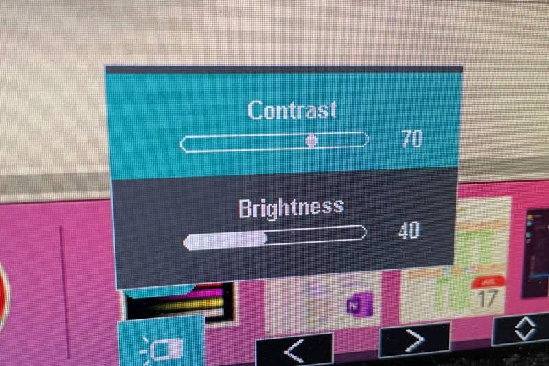 contrast-brightness display