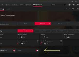 impostazioni SAM AMD